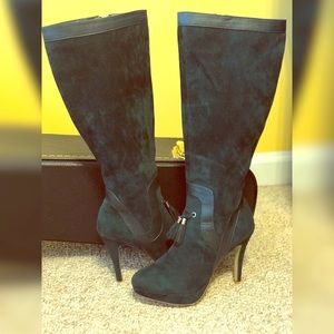 "Shoedazzle ""Hadley"" Faux Suede Knee High Boots"